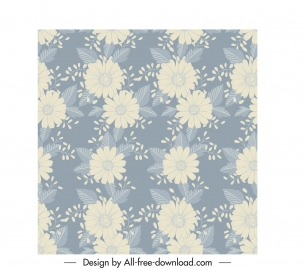 flowers pattern blurred classic design