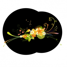 flowers with blackground