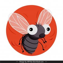 fly species icons funny cartoon sketch