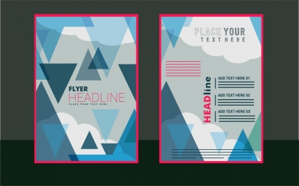 flyer brochure cover design abstract triangles style