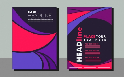 flyer design abstract background with curved lines