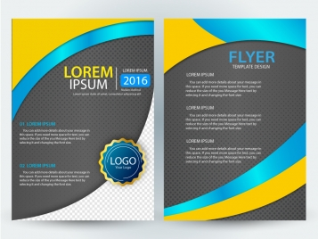 flyer design with curved illustration style