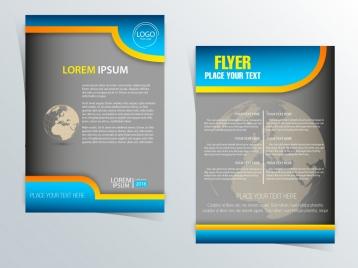 flyer design with globe vignette illustration