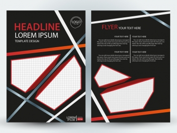 flyer design with modern black background style