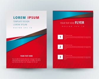 flyer design with red modern style