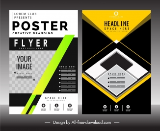 flyer poster templates colorful modern technology decor