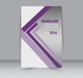 flyer template design with checkered violet background