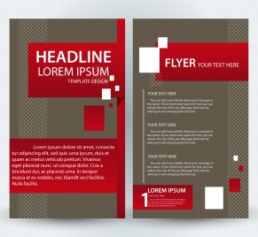 flyer template design with classical style