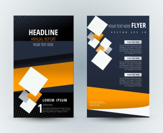flyer template design with modern background and squares