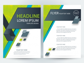 flyer template design with modern style