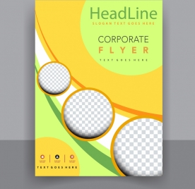 flyer template modern colorful design checkered circles