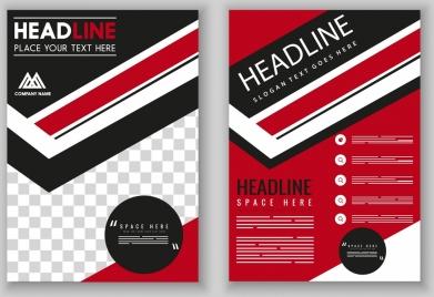 flyer template modern red black design checkered decor