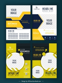 flyer templates abstract modern design checkered decor