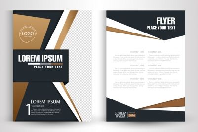 flyer vector design with abstract modern style