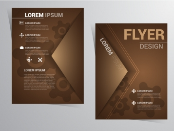 flyer vector design with vintage style