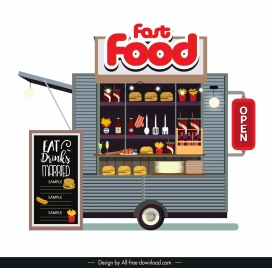 food car store icon colored modern flat sketch