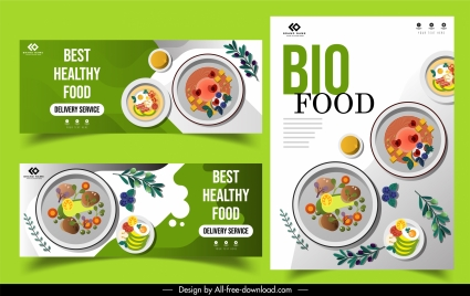 food flyers templates cuisines ingredients sketch colorful flat