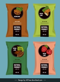 food package templates shiny colored classic decor