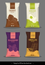 food packages templates shiny elegant dark bright design