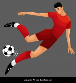 football player icon colored cartoon sketch