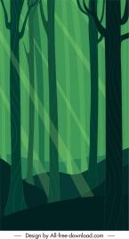 forest background dark green classic flat design
