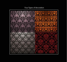 Four types of decorations