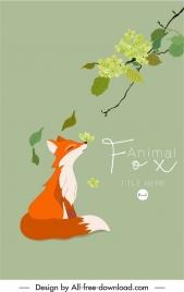 fox book tale cover template classic cartoon sketch