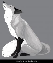 fox painting dark grey classical sketch