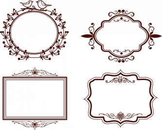 frames design collection classical design in various shapes