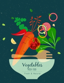 fresh vegetables background colorful flat transparent design