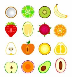 Fruit cut in half