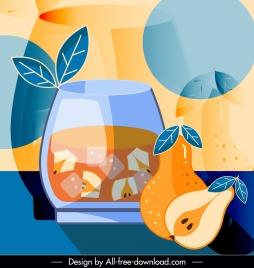 fruit juice advertising background colorful classic elegance