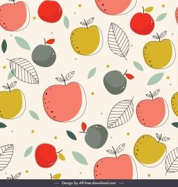 fruit pattern flat colored handdrawn sketch