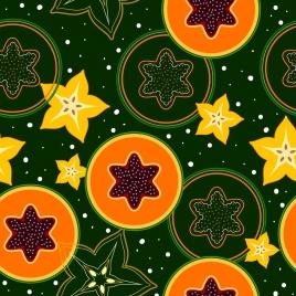 fruits background repeating design papaya carabola slices icons
