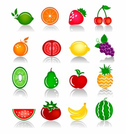 Fruits Colorful Icons