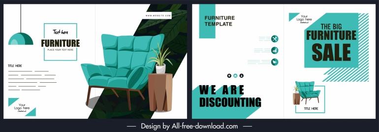 furniture brochure template modern blue white decor