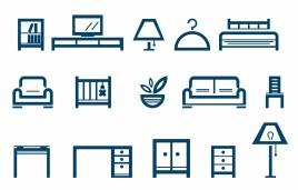 Furniture pictograms