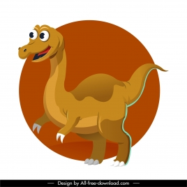 gallimimus dinosaur icon cute cartoon character design