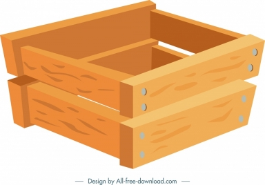 gardening work background wooden crate icon 3d design