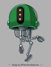 garderner robot icon modern multi tasks design