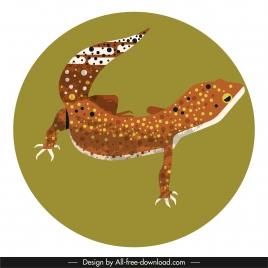 gecko icon colorful classic closeup design