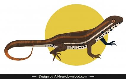 gecko icon dark colored 3d classic design