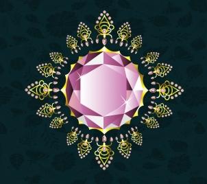 gemstone background shiny sparkling diamond icon
