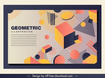 geometric background 3d dynamic design