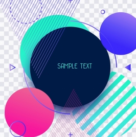geometric background colorful circles triangles decoration