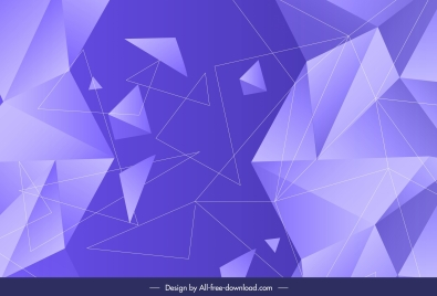geometric background dynamic 3d triangles sketch violet decor