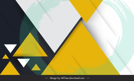 geometric background modern colorful flat triangles decor