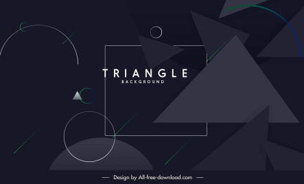 geometric background modern dark design triangle circles decor