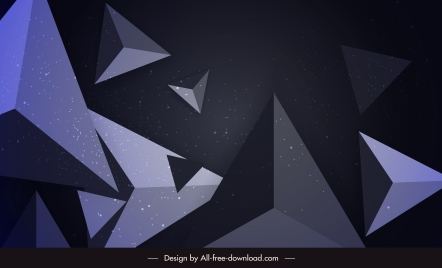geometric background modern dynamic 3d pyramid decor