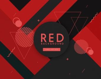geometric background red black design